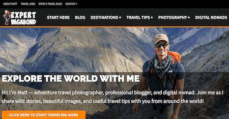 Expert Vagabond: Top Ten Best Travel Blog